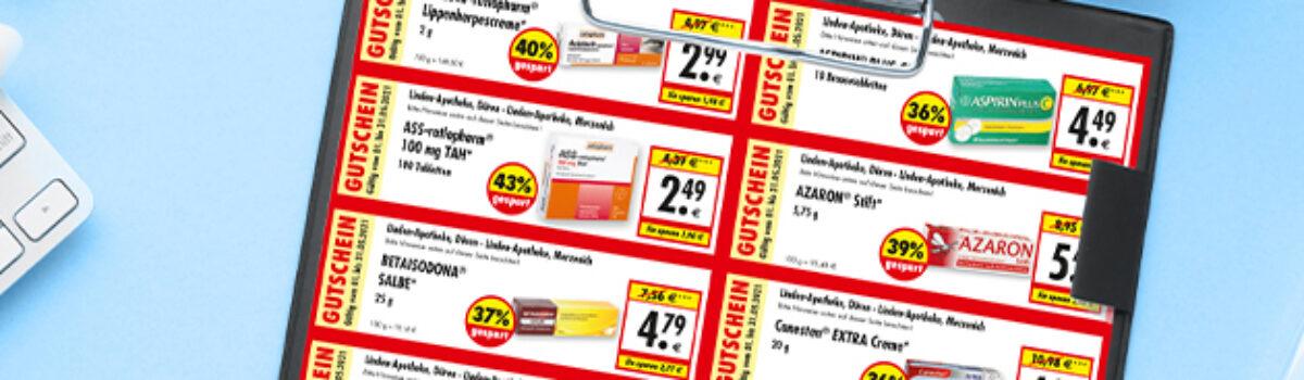 Jetzt beim Apotheken-Einkauf sparen!